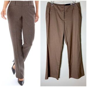 APT 9 Camel Curvy Fit Wide Leg Slacks Trousers Tan